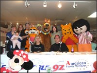 97.3 The Eagle Airstaff with some familiar friends who were on hand to meet the kids.