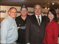 Jack Pavlat, dad whose daughter was treated at St. Jude Research Hospital in Memphis, Jimmy Ray Dunn, Morning Show Personality, Peter Decker, friend of Danny Thomas and St. Jude Board of Directors member and Jennifer Lewis, Morning Show Personality.