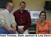 Hunt Thomas, Mark Jackson and Lisa Davis